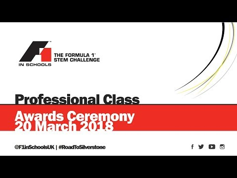 F1 in Schools UK National Final 2018 - Professional Class Awards Ceremony