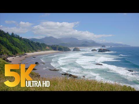 Pacific Northwest, Oregon Coast. Part 1 - 5K Nature Documentary Film With Narration (English)