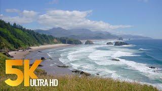 Pacific Northwest, Oregon Coast. Part 1 - 5k Nature Documentary Film With Narration  English