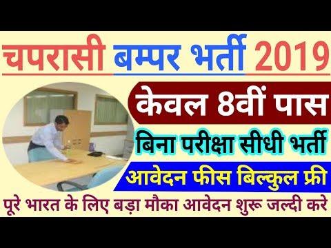 चपरासी-भर्ती-2019-//-8th-pass-govt.-job-//-group-d-vanacay-//-online-apply-//#online-job  -no-exam
