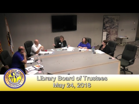 Library Board of Trustees | May 24, 2018
