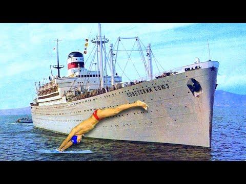 Как русский мужик убежал из CCCP прыгнув в Океан с корабля