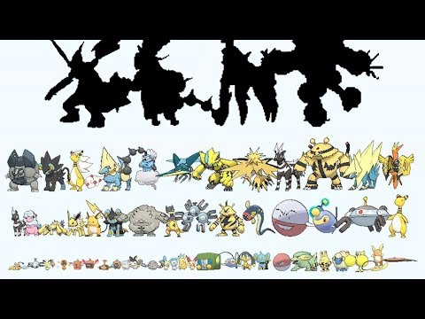 All ELECTRIC Pokemon From Smallest to Biggest - YouTube