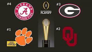 College Football Playoffs: Clemson, Alabama, Georgia, Oklahoma