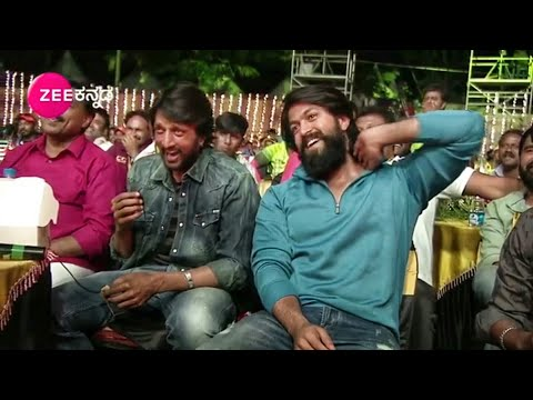 Kiccha Sudeep Laughing For Rocking Star yash Dialogue At KCC Karnataka Chalana Chitra Cup