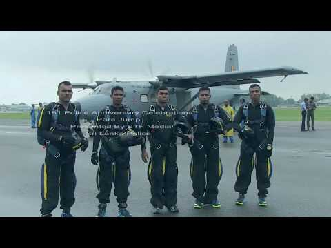 151 Police Anniversary Celebrations Para Jump Presented By STF Media Sri Lanka Police