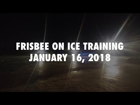 Starting to Dial in the Skating - Jan 16 Frisbee on Ice Training