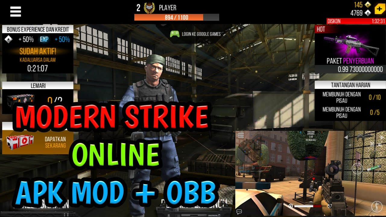 modern strike online mod apk and obb