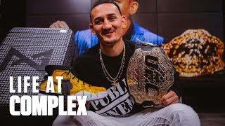 Unboxing Playstation Paul George Friends & Family Sneakers Feat  UFC Max Holloway | #LIFEATCOMPLEX