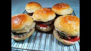 Уй шартында Гамбургер жасайбыз. // Готовим Гамбургер в домашних условиях.