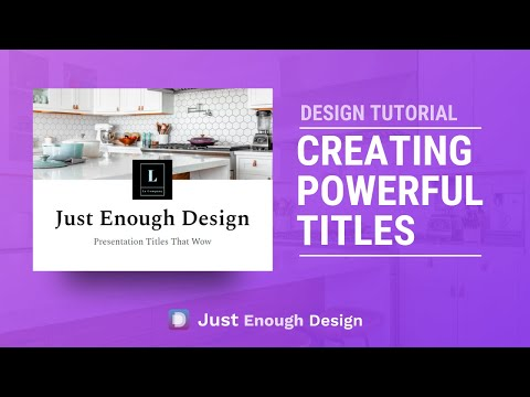 Design Tutorial - Create Powerful Titles in Google Slides and more thumbnail