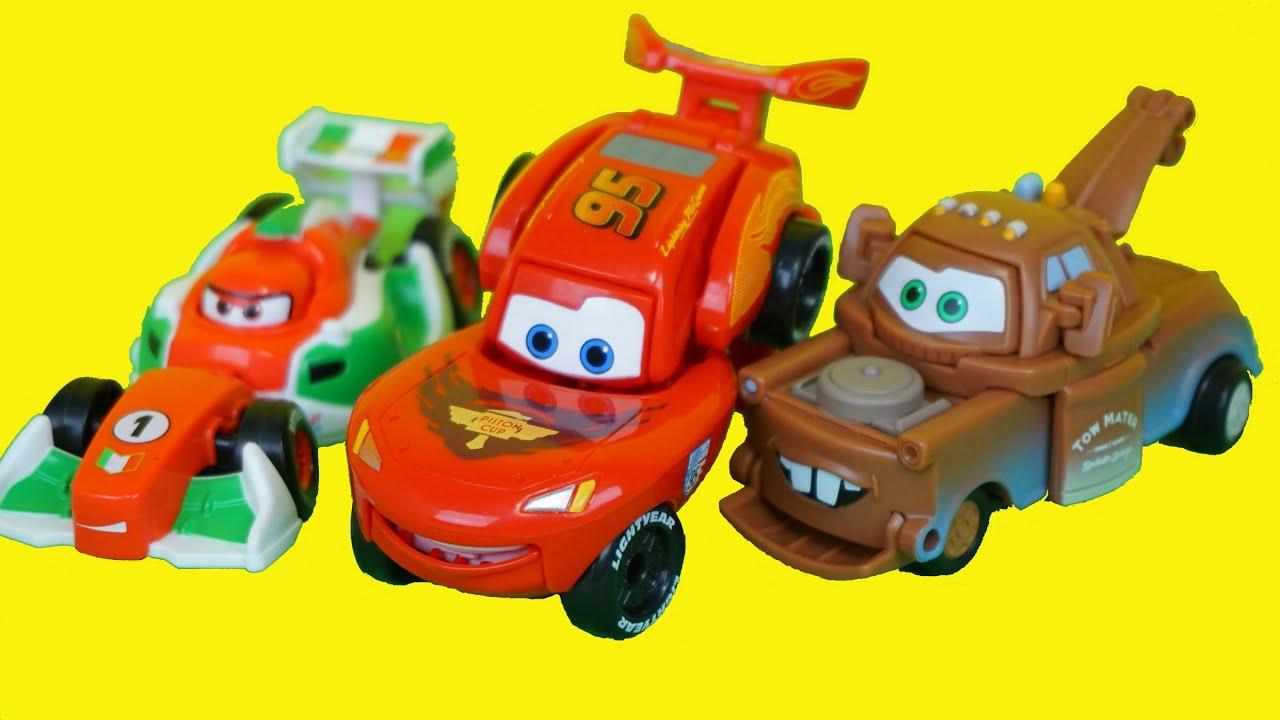 Disney Cars Toys Youtube: Cars 3 Transforming Disney Pixar Car Toys 디즈니 픽사 카 변신 장난감