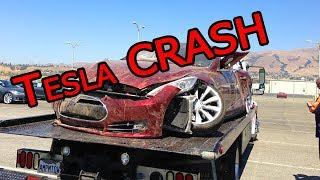 Amazing! Incredible TESLA crashes Accidents Tesla car! Fail AUTOPilot