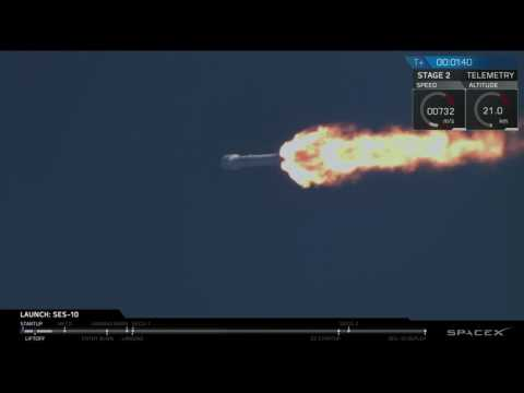 SpaceX Rocket Launches on a Recycled Booster | Video