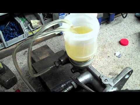 How to bench bleed a Master cylinder Brake or Clutch