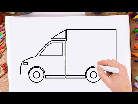 How to Draw Delivery Truck  Learn Drawing a Delivery Truck Very Easy and step by Step