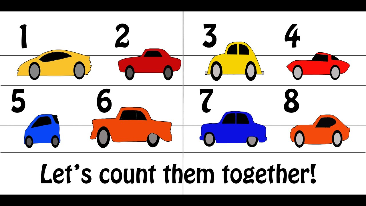 counting cars song count to 10 kids songs early learning