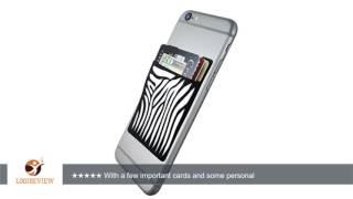 cardninja ultra slim self adhesive credit card wallet for smartphones black with zebra