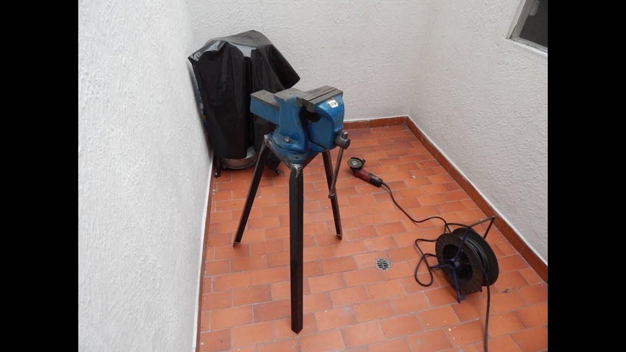 Fabricacion de soporte para prensa de banco homemade vise - Patas regulables para mesas ...