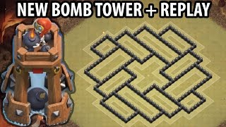 Clash of Clans - Town hall 8 (Th8) War Base + BOMB TOWER - ANTi 2 Star + Defense Replay