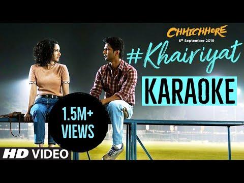 khairiyat-(arijit-singh)---karaoke-with-lyrics-  -chhichhore-  -happy-version