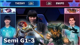 TheyShy Fiora vs Bwipo Olaf - Game 3 | 1vs1 Semi finals 2019 All-Star Las Vegas | LPL vs LEC