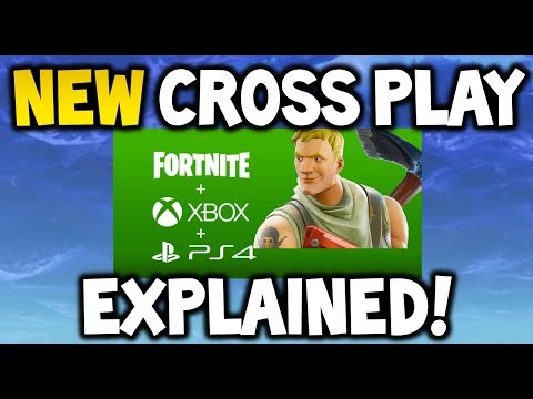 FORTNITE CROSS-PLAY FULLY EXPLAINED XBOX + PS4 TOGETHER! - How Will It WORK?! (PC, Mobile, IOS)