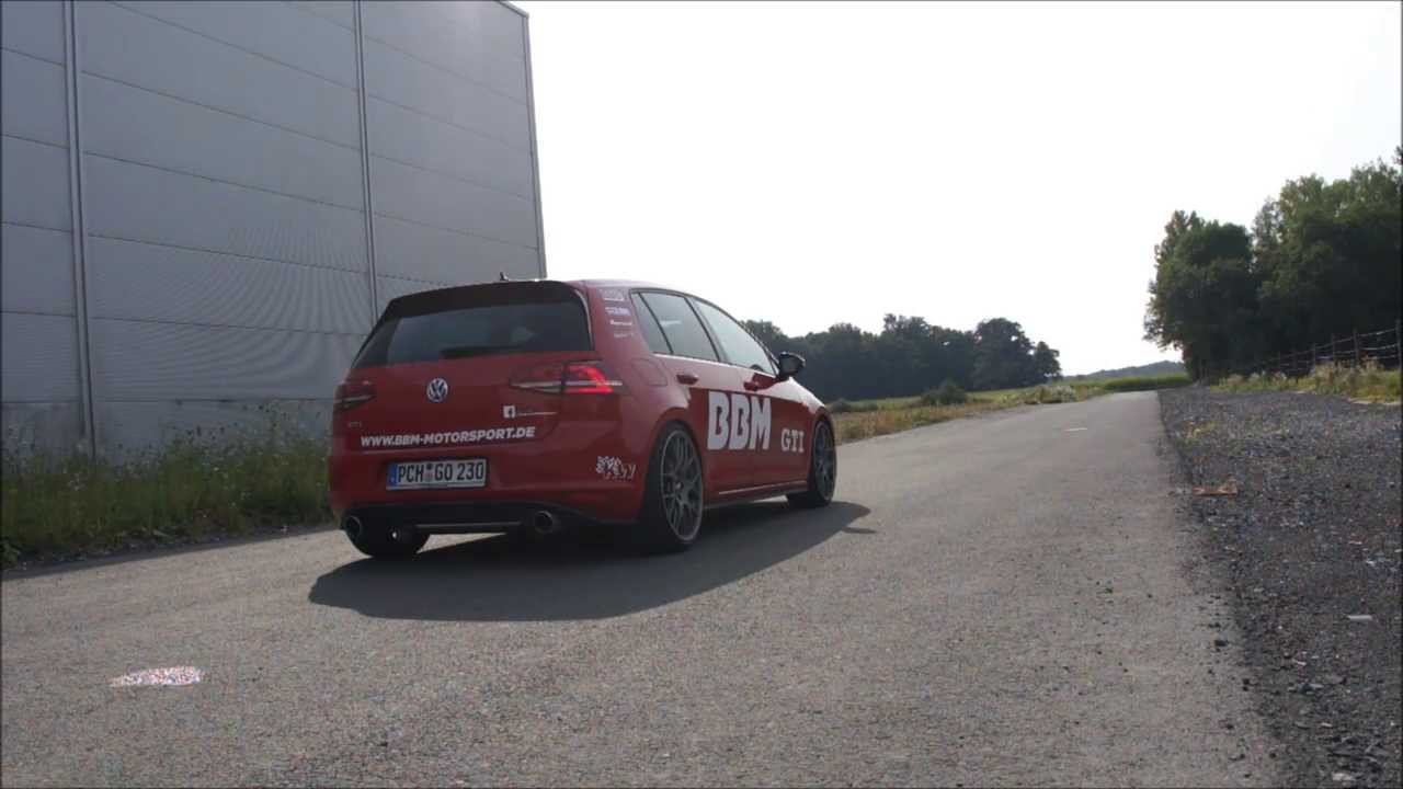 bbm motorsport vw golf vii 7 gti supersprint exhaust sound. Black Bedroom Furniture Sets. Home Design Ideas