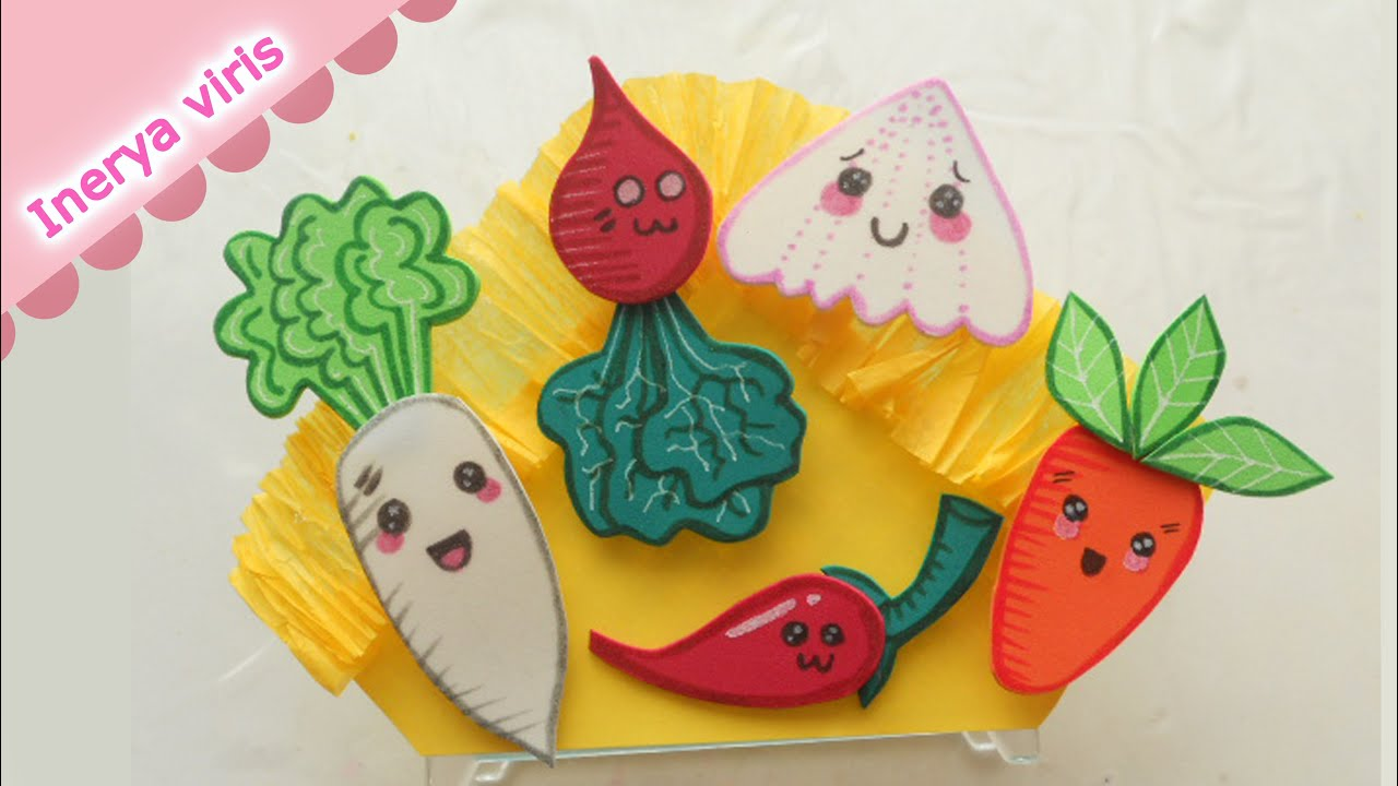 o hacer Verduras KAWAII para decorar Servilleteros Fiesta