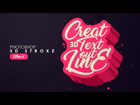 Awesome 3D Lettering Design, Typography/text effect Photoshop - Tutorial photoshop bahasa indonesia