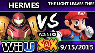 S@X 115 - Hermes (Sheik, Samus) Vs. Light Leaves Thee (Mario) - SSB4 Winners - Smash Wii U - Smash 4