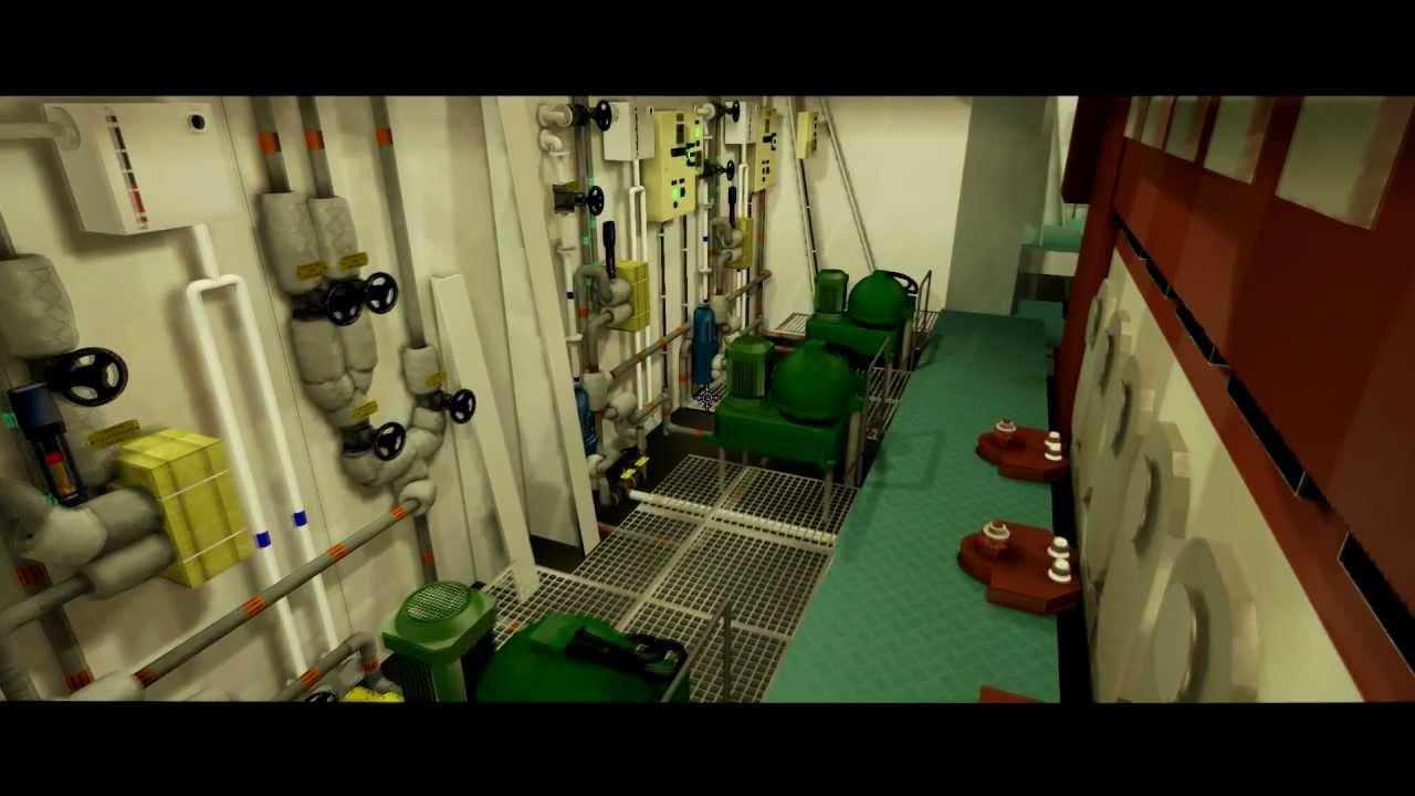 Mak11 engine room simulator miwb terschelling youtube for Room simulator