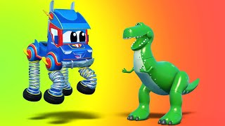 Truck cartoons for kids -  DINOSAURE T-REX Picnic Surprise' - Super Truck in Car City !