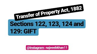 Sec. 122, 123, 124 and 129 TPA: Gift