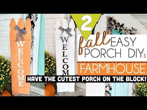 DIY Fall Decor | Fall Farmhouse Decor | Fall Front Porch Decor