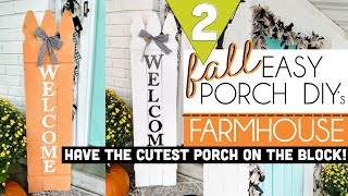 DIY Fall Decor | Fall Farmhouse Decor | Fall Front Porch Decor