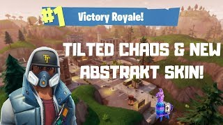 TILTED TOWERS CHAOS & NEW ABSTRAKT SKIN in Fortnite Battle Royal