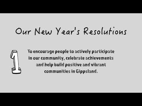 Our New Year Resolutions