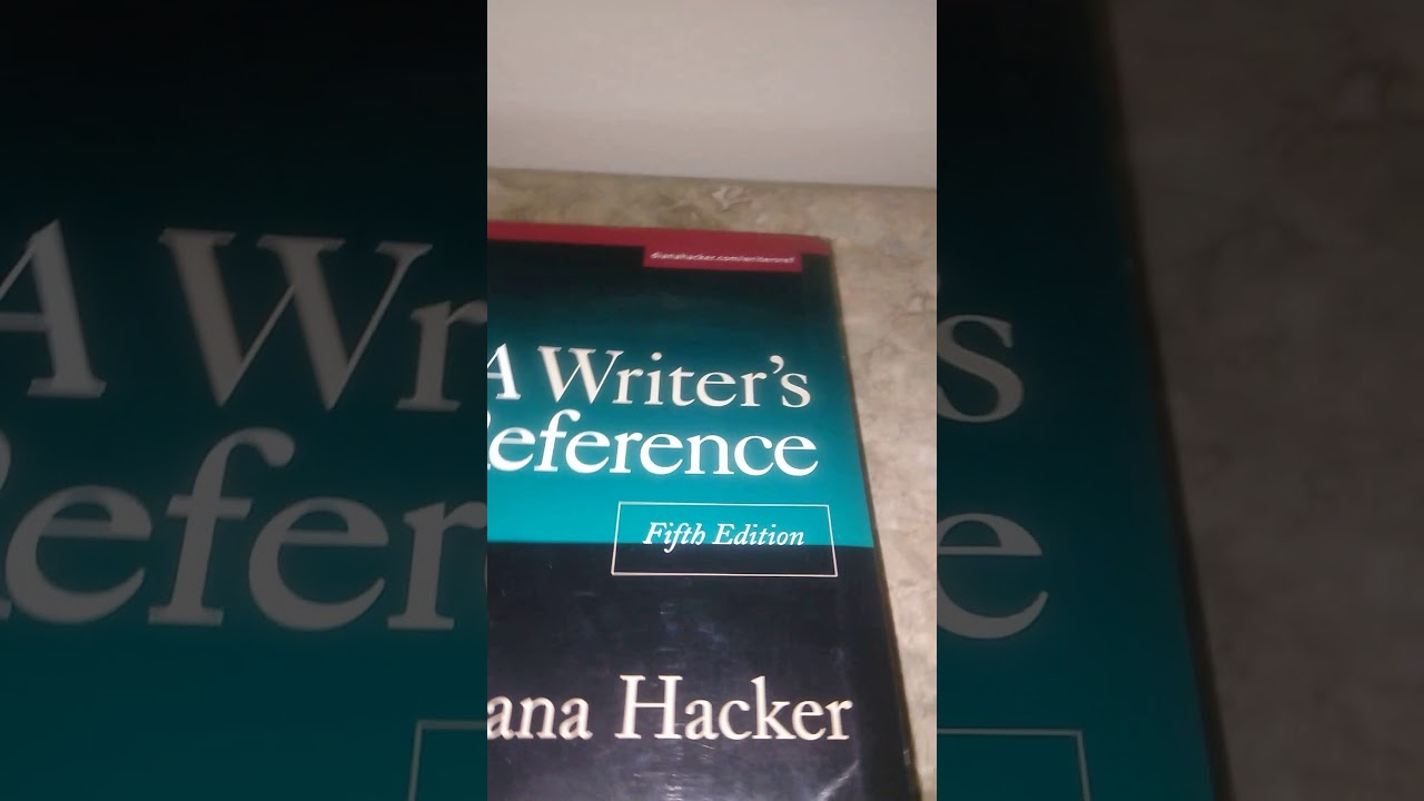 A Writers Reference Book 5th Edition Review