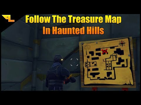 Follow The Treasure Map Found In Haunted Hills | Fortnite Week 9 Challenge Guide