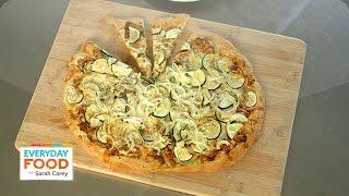 Barbecued Chicken-Zucchini Pizza Recipe