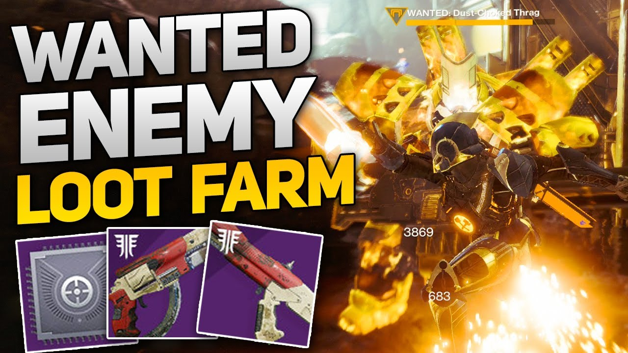 Wanted Enemy Loot Farm! - Get Tangled Shore Weapons, Armor, & Mods!  (Destiny 2 Forsaken)