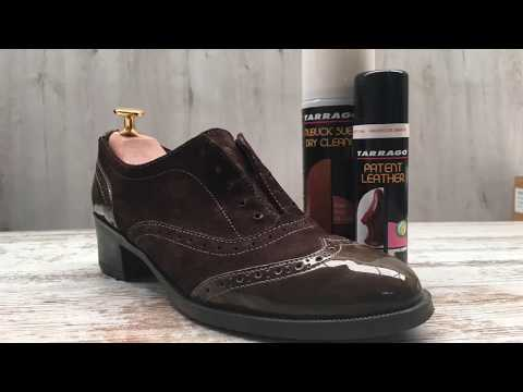 How to clean an Oxfords with Suede and Patent Leather