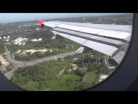 Air Asia Landing at Brunei Airport