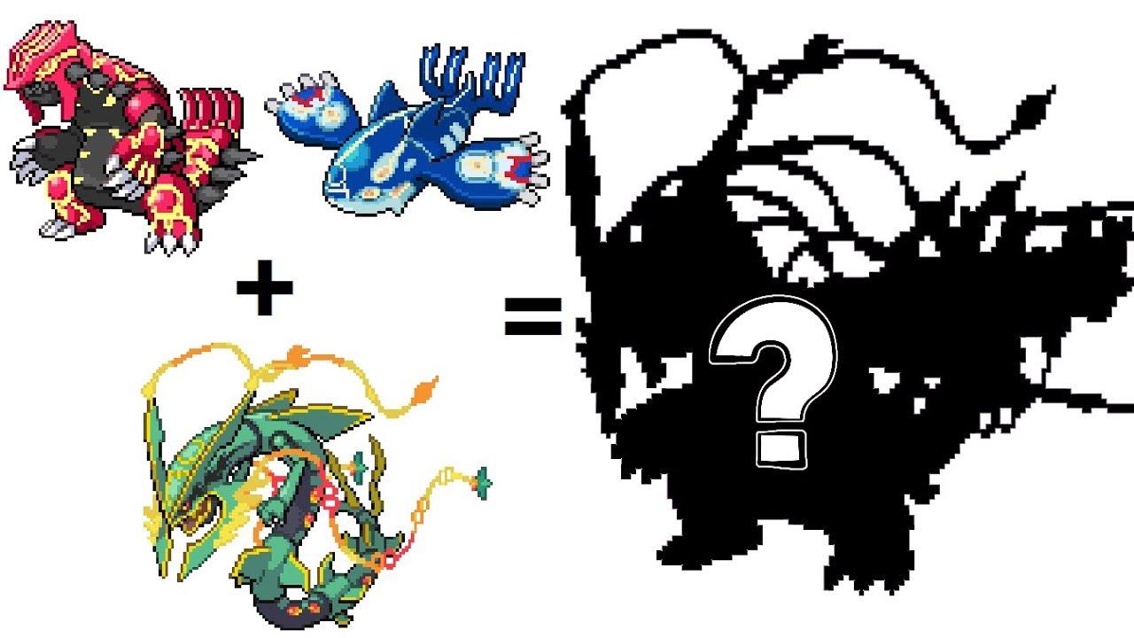 Pokemon Fusion Sprite Request 79 Mega Rayquaza Primal Groudon Primal Kyogre