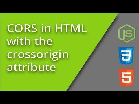HTML Crossorigin Attribute