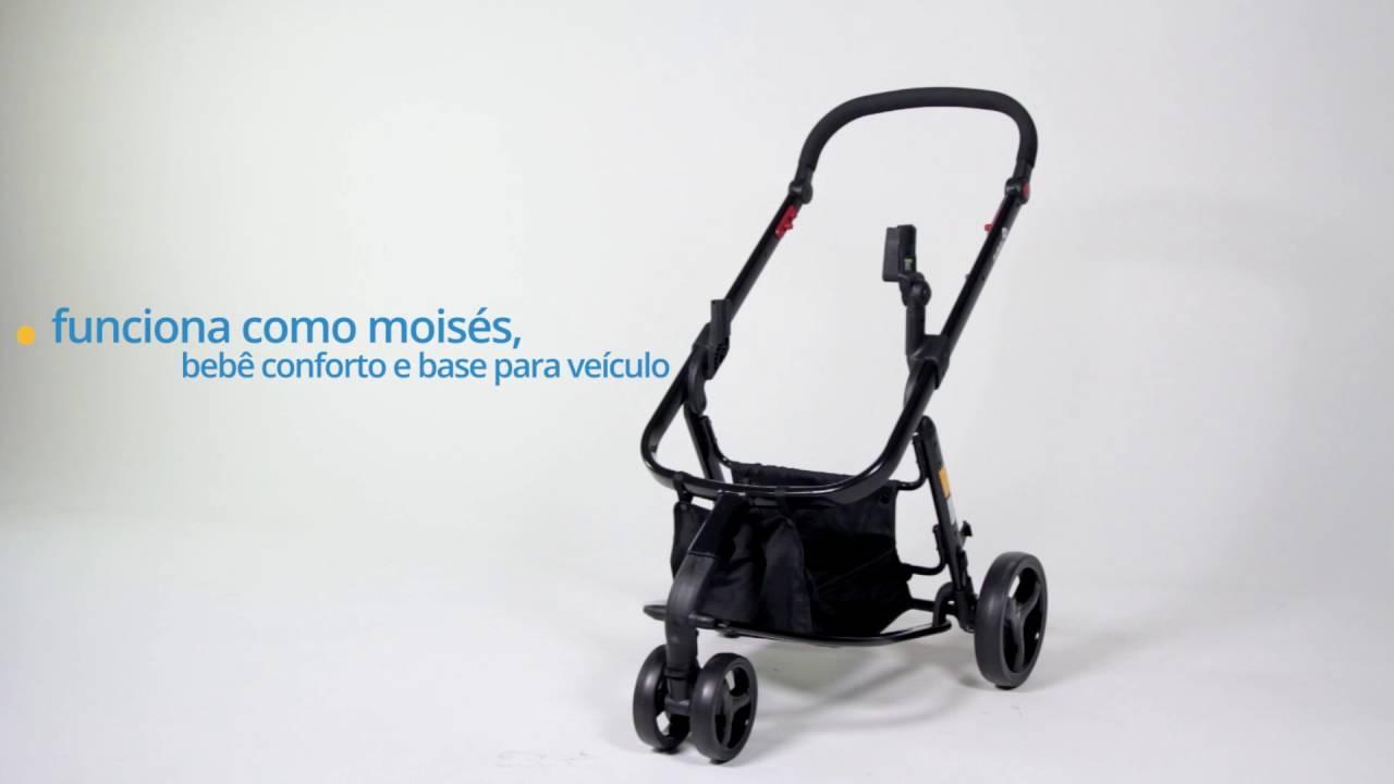 9fd95155fdf Carrinho de Bebê Travel System Mobi TS Preto Safety 1ST - YouTube