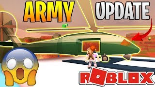 ROBLOX JAILBREAK ARMY UPDATE *NEW HELICOPTER, ESCAPE!* - 1 Year Anniversary