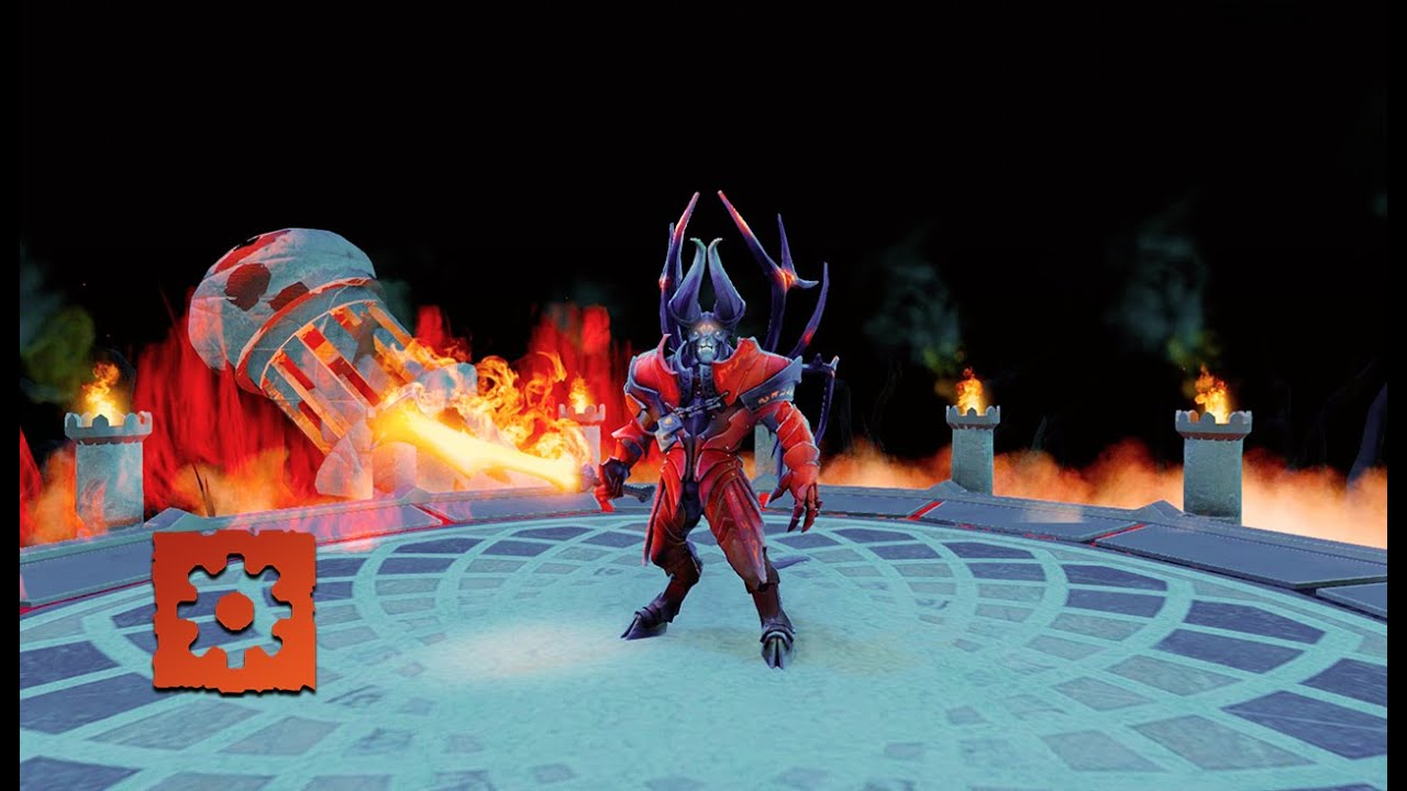 Speed Environment art in Dota 2 «Hell Tower»