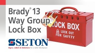 How to Use A Brady® 13 Way Group Lock Box | Seton Video